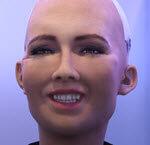 Sophia AI smiling robot