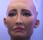 Sophia AI crying robot