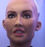 Sophia AI angry robot